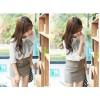 TE9958HYS Slim vintage embroidery Korean style white shirt