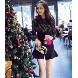 TEQ9732JXN Japanese fashion trumpet zipper two side wear woolen skirt