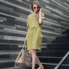 TE1283GJWL Europe fashion loose casual belt dress