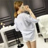 TE140YEHG Loose slim stripes pullover shirt
