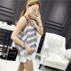 TE141YEHG Korean fashion stripes chiffon gallus tops