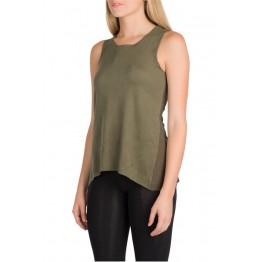 TE2282XYD Europe fashion hot sale contact color splicing sleeveless t-shirt