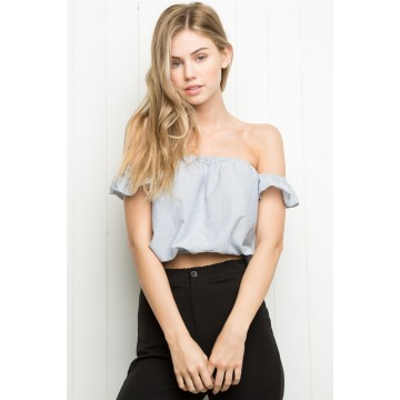 TE2285XYD Europe fashion sexy boat neck off shoulder tops