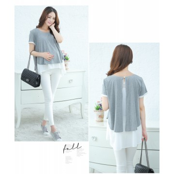 TE2591YZFZ Hot sale fashion maternity shirt