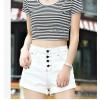TE5029DDFS Hot sale four buttons slim roll off denim shorts