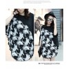 TE6019AYY Fat girl loose large size personality splicing batwing t-shirt