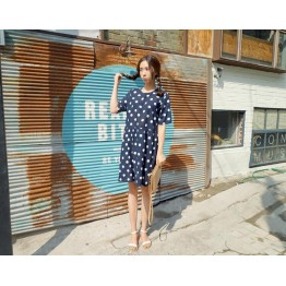 TE6400YZS Korean fashion sweet dot short sleeve dress