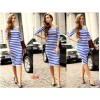 TE65125YWQS Hot sale stripes boat neck slim dress