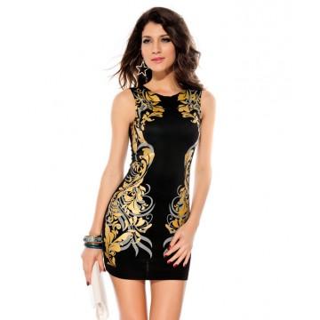 TE6811YWQS Hot sale slim print dress