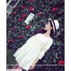 TE8507XYZ Lace splicing dress
