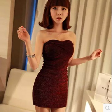 TE8663YYFS Sexy offs shoulder tight hip tube top cocktail dress
