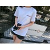 TE907HHC Loose slim pure color slub cotton t-shirt