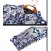 TE9101LLYG New style vintage lapel slim silk print dress