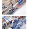 TE9647LLYG Summer new style round neck split vintage print slim silk dress