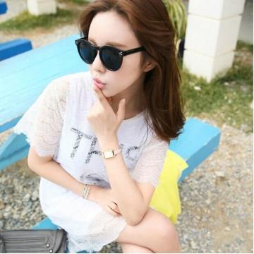 TE9770WJYS Korean fashion lace fresh slim gentlewomen dress