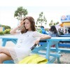 TE9770WJYS Korean fashion lace fresh slim gentlewomen dress