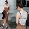 TE9934WJYS Lace back hollow out vest dress
