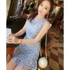 TE0327YJR Slim hollow out lace dress
