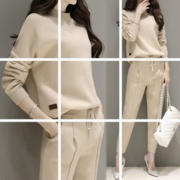 8845 Korean fashion knitted sweater with pants