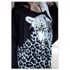 TE5940HJFS Leopard Printing Loose Large Size T-shirt