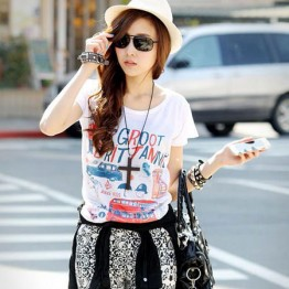 TE86030JYS New Style Cartoon Printing Casual T-shirt