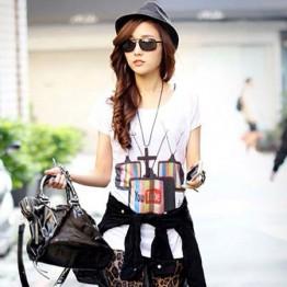 TE86031JYS New Style Korean Fashion Printing Casual T-shirt