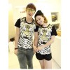 TE5012ASY Japanese Fashion Tiger Head Printing Couple T-shirt (for boy)