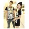 TE5012ASY Japanese Fashion Tiger Head Printing Couple T-shirt (for boy)
