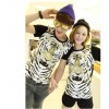 TE5012ASY Japanese Fashion Tiger Head Printing Couple T-shirt (for girl)