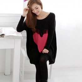TE86120JYS Korean fashion tassel heart knitting sweater