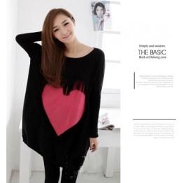 TE86120JYS Korean fashion tassel heart knitting sweater