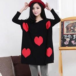 TE86119JYS Korean fashion heart pattern batwing sleeve sweater
