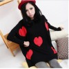 TE86119JYS Korean fashion heart pattern batwing sleeve sweater