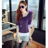 TE8980WMSS OL temperament long sleeve slim dress purple