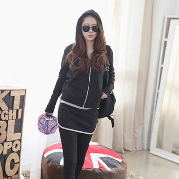 TE5003XXM Europe style leisure hooded coat with slim pantskirt