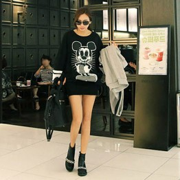 TE9752AYY Korean fashion loose skull cartoon print loose sweatshirt