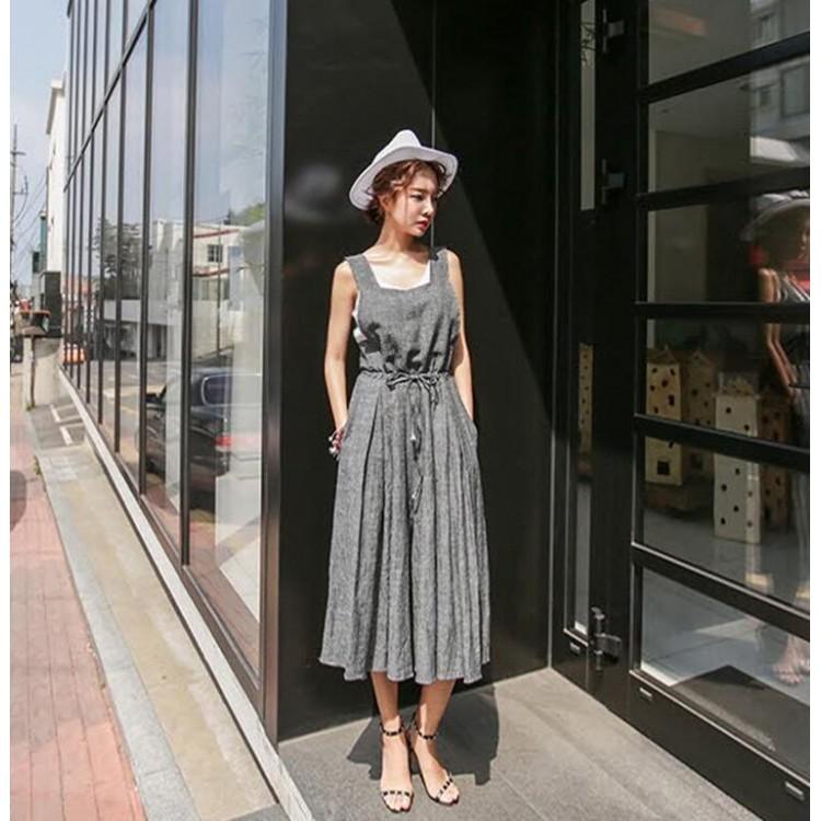 TE6421YZS OL Korean style sleeveless suspender empire ...