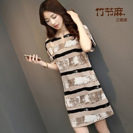 8615 large size fashion temperament ladies dress