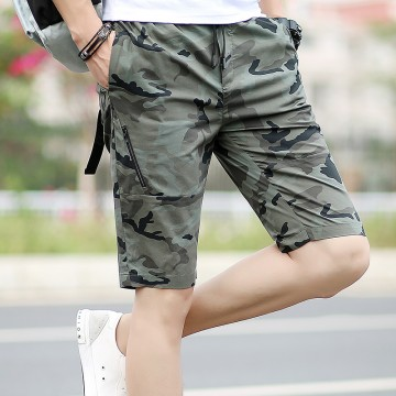 Summer casual camouflage shorts men trend turtles pants in pants beach pants 099 #