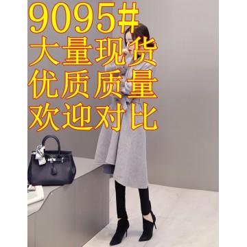 2017 autumn and winter new Korean version of the thin fox fur long woolen jacket cashmere jacket wool wool woolen coat