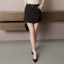 6538 A-line pocket short skirt
