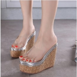 Korean fashion wedge heel slipper