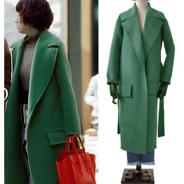 3680 Green over the knee double-sided coat