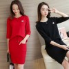 The new shirt sweater two - piece suit dress women fashion autumn and winter long - sleeved sweater tide 723
