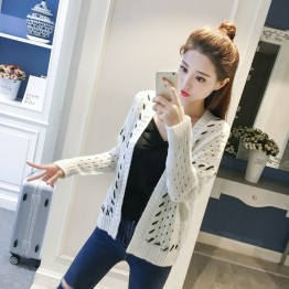 9913 Korean fashion trend simple hollow sweater