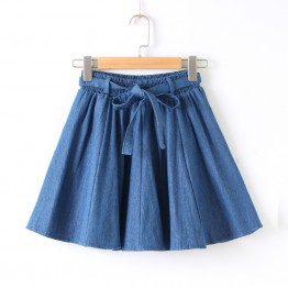 703 fresh A-line denim skirt