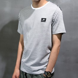 2001 Men's Summer Stripes Leisure Short Sleeve T-Shirt
