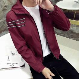 703 men's baseball collar trend Korean casual jacket