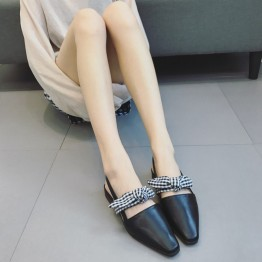 2017 flat heel preppy style sweet bow flattie