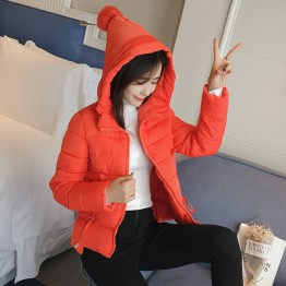6918 real down feathers cotton women Korean version of the Slim hooded fashion wild students warm cotton jacket small cotton jacket